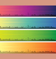 kansas city multiple color gradient skyline banner vector image vector image
