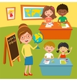 Kids school or baby club lessons vector image vector image