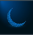 low poly islamic crescent for ramadan kareem vector image vector image