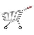 market shopping cart icon cartoon style vector image vector image
