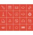 Media sketch icon set vector image vector image