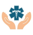 medical symbol design vector image vector image