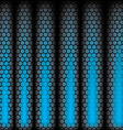 Metal Shine Hexagon Grid on blue Background vector image vector image