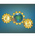 money driven world vector image