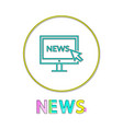 news in linear outline style vector image vector image