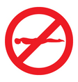 no planking sign vector image vector image