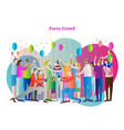 party crowd festive celebration event with friends vector image