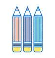 pencils colors school tool object design vector image