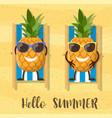 pineapple cartoon character vector image vector image
