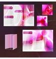 Pink brochure template vector image vector image