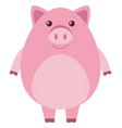 pink pig with round body vector image vector image