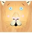 portrait a lion vector image