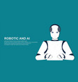 portrait human robot vector image vector image