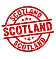 scotland red round grunge stamp vector image