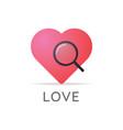 search love logo icon vector image vector image