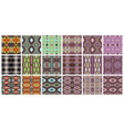 set 18 geometric seamless pattern in ethnic vector image