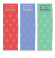 Set Of Three Colorful Cupcakes Vertical Banners vector image vector image