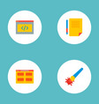 set wd icons flat style symbols with coding vector image vector image