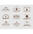 set wine logos with ribbons vector image vector image