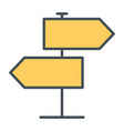 signpost line icon simple minimal 96x96 pictogram vector image vector image