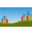 Silhouette of town city landscape vector image vector image