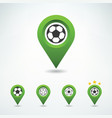 soccer pin vector image vector image