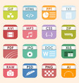 square file types and formats labels icon vector image vector image