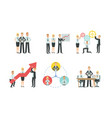 successful business people characters working vector image