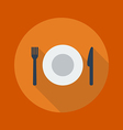 Travel Flat Icon Restaurant vector image