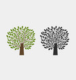 tree logo or symbol nature garden ecology vector image vector image
