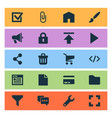 user icons set with announcement brush trash can vector image vector image