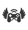 video game controller with wings icon logo vector image vector image
