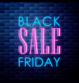 vintage black friday sale emblem vector image vector image