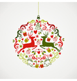 Vintage Christmas elements bauble design EPS10 vector image vector image