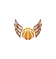 volleyball fly with wings icon and serving ball vector image