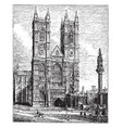 westminster abbey vintage vector image vector image