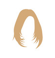wig hair icon design template isolated vector image vector image