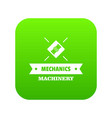 work machinery icon green vector image vector image