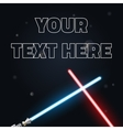 Your text here banner of light swords Neon for vector image vector image
