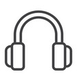 headphones line icon web and mobile listen sign vector image