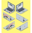 Isometric set of computer laptop 3d vector image