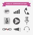 public communication icon set vector image