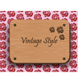 Vintage Style wooden board vector image