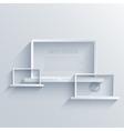 creative flat laptop background Eps 10 vector image