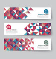 abstract triangle banner flat design vector image vector image