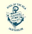 Anchor Sailor Tee Design vector image vector image