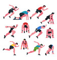 athlete athletic people running and vector image vector image
