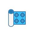 blue wallpaper roll concept creative icon vector image vector image