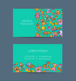 business card template for shop vector image vector image