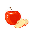 cartoon fresh apple isolated on white background vector image vector image